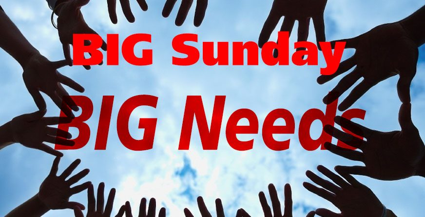 BIG Sunday is September 11th: We Need Your Help
