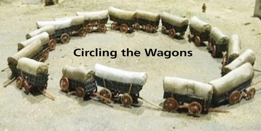 The Beauty of Wagon Trains (Churches) by Mike Glenn