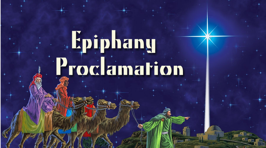 Epiphany Proclamation