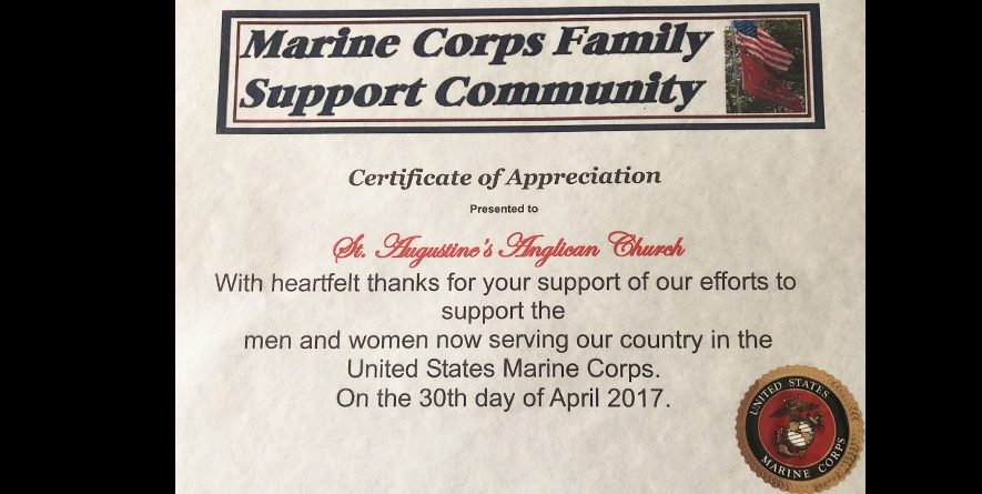 Thank-You from the Marine Corp Family